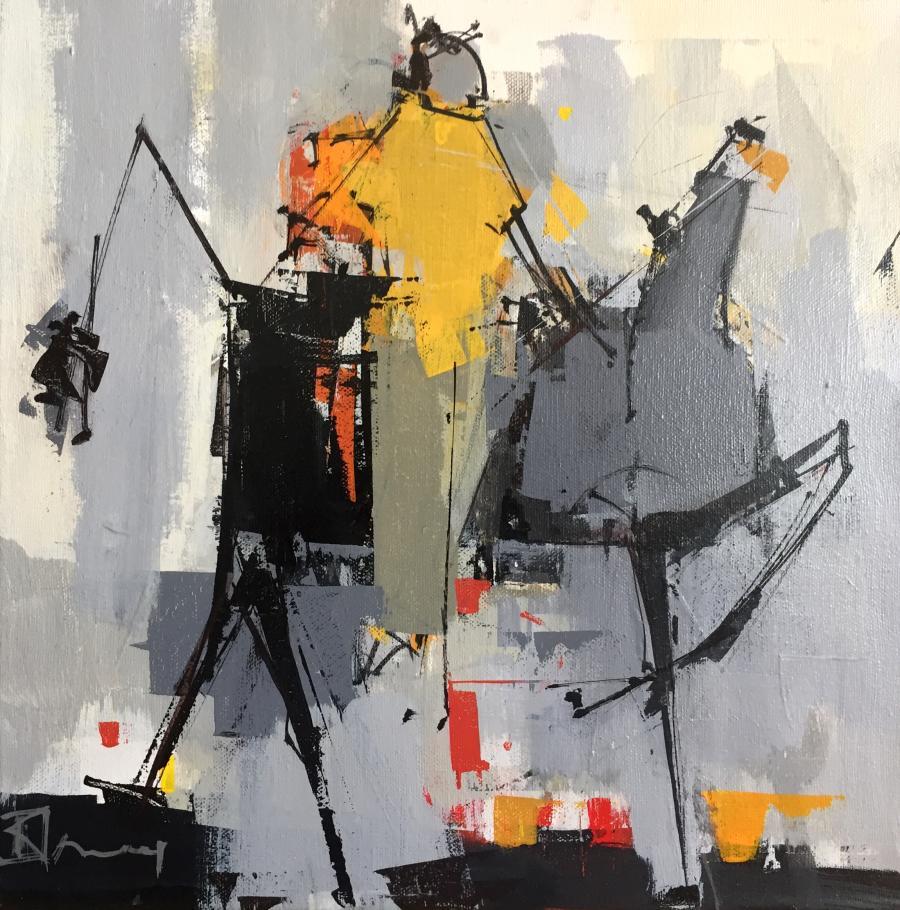 René Lemay artiste peintre - Je t'aime mon cheval - Acrylique