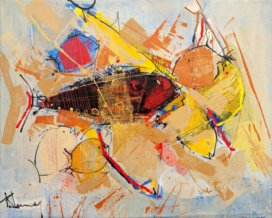 René Lemay - The Golden Fish - Acrylique - 2007