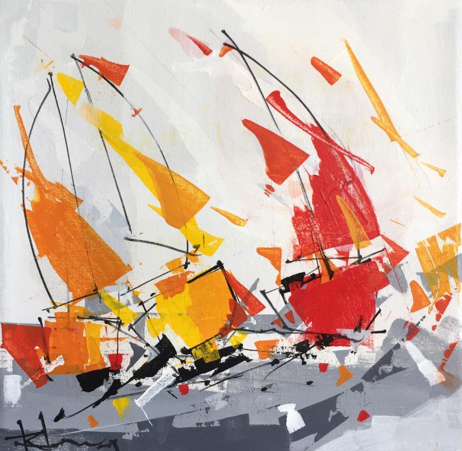 René Lemay artiste peintre - Les trois allures - Acrylique - 2007