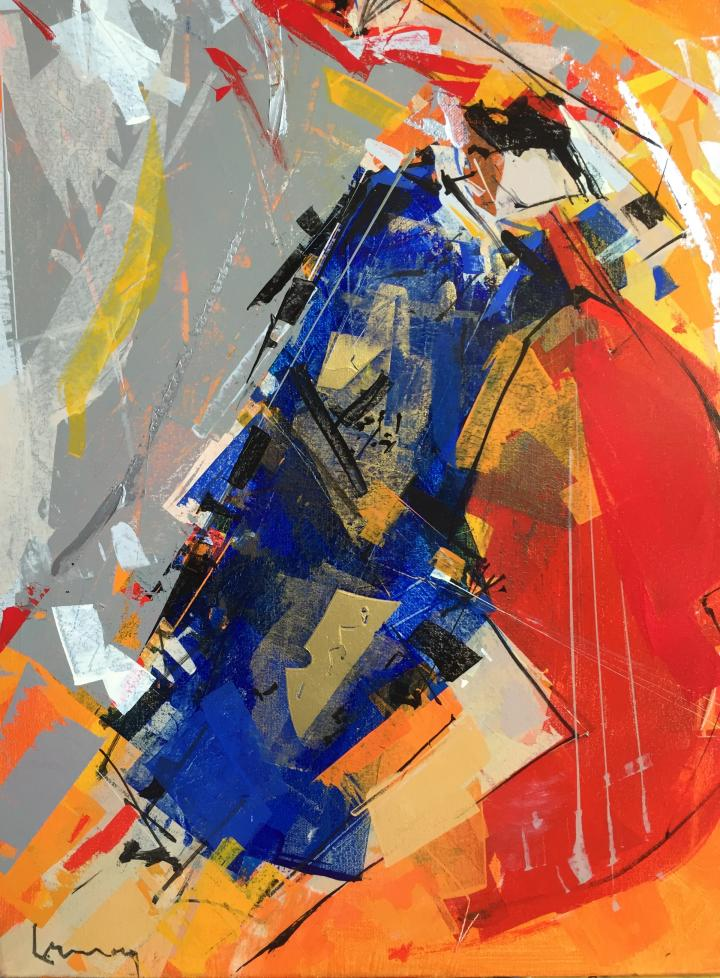 René Lemay artiste peintre - Corde sensible - Acrylique