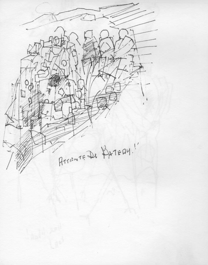 Croquis de l'artiste peintre représentant un port