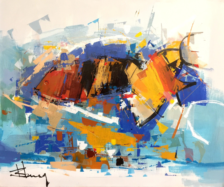 René Lemay artiste peintre - Aquarium - Acrylique