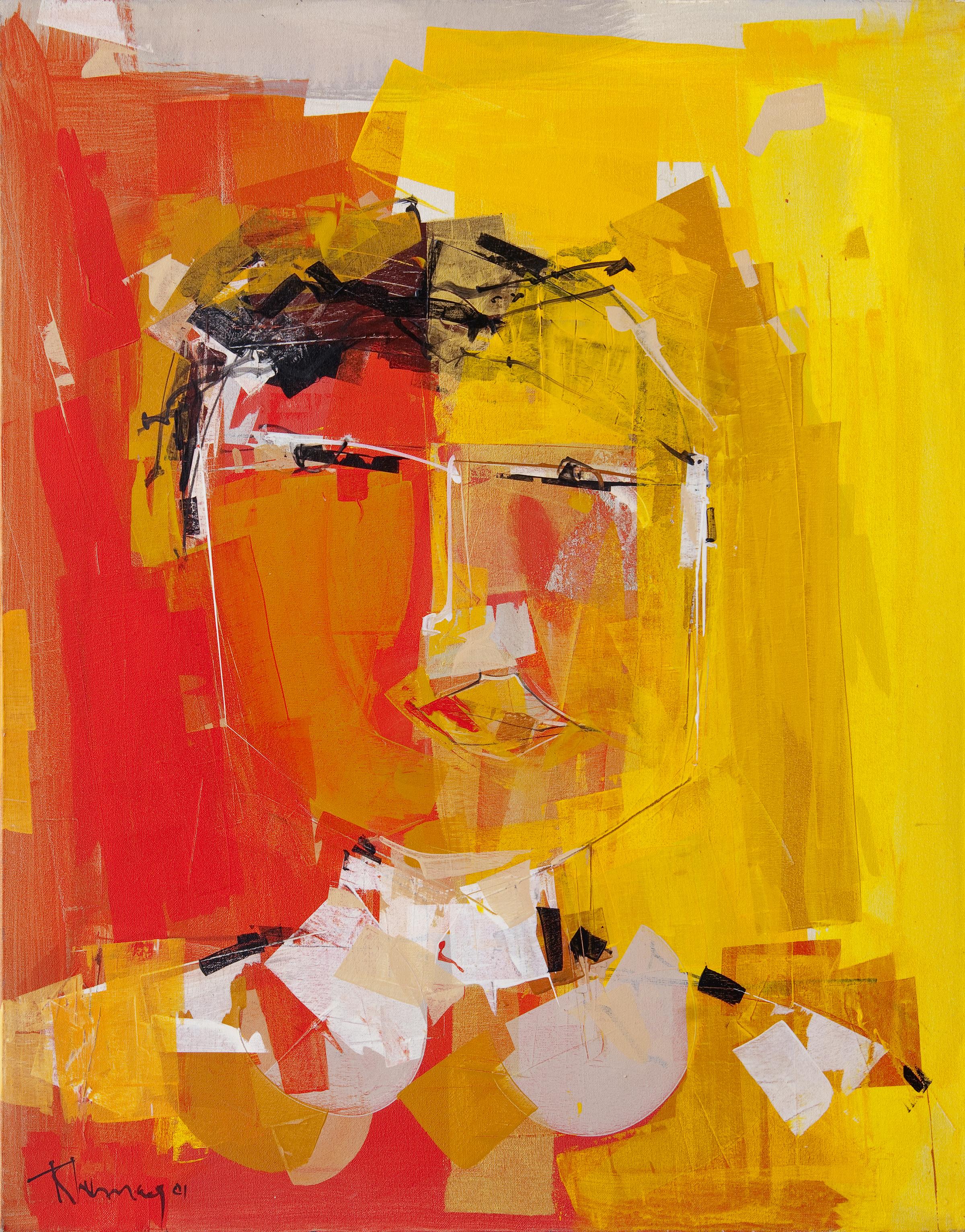 René Lemay artiste peintre - Étude du visage - Acrylique
